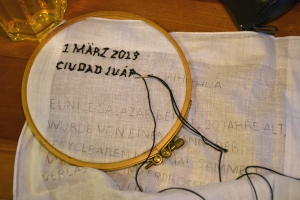 Bordando por la paz en Mexico - Suiza