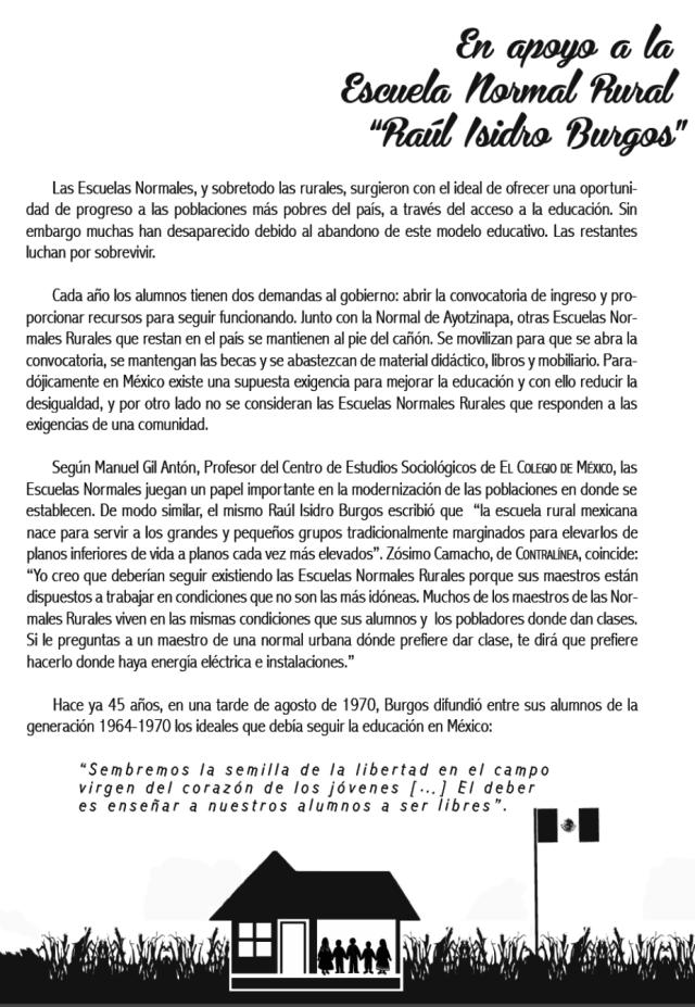 Flyer basel 2 ayotzinapa suiza